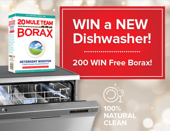 WIN a box of 20 Mule Team Borax
