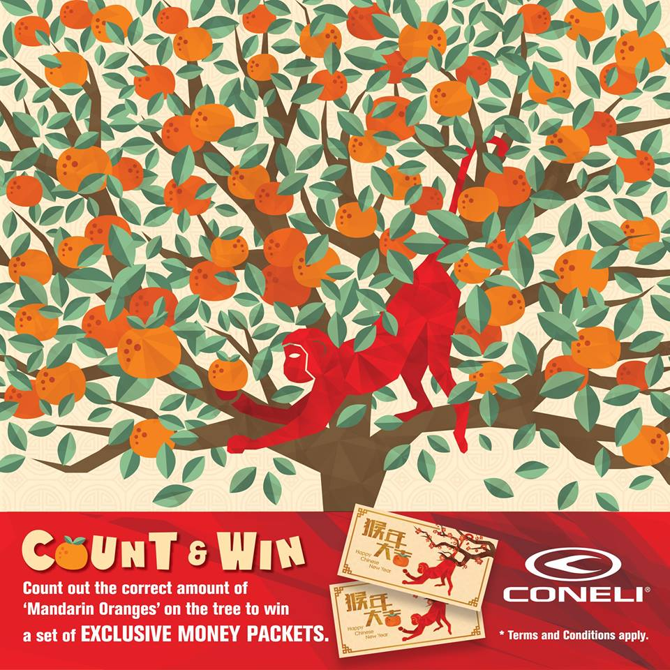 Win Money Packet at CONELI Malaysia