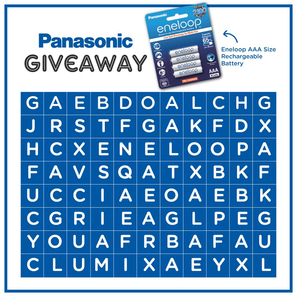Win a pack of eneloop AAA Rechargeable Batteries at Panasonic Malaysia