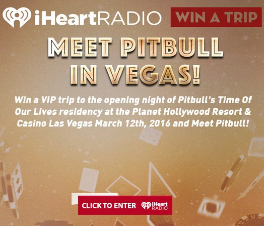 Win a trip to meet Pitbull in Vegas at iHeartRADIO