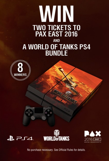 Win two tickets to Pax East 2016 and A World of Tanks PS4 Bundle