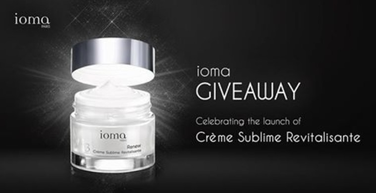 ioma Giveaway Redeem a 1 week trial kit at Robinsons The Heeren (14 - 20 Jan)