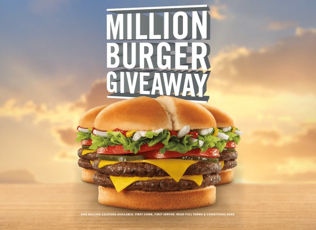Claim your free burger at Jack in the Box