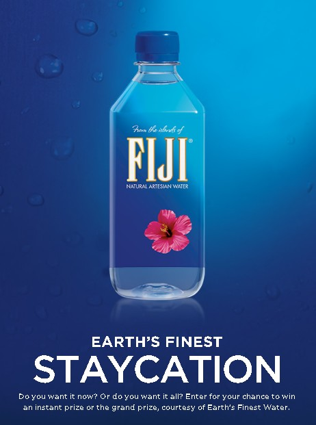 EARTH'S FINEST STAYCATION SWEEPSTAKES @ FIJI WATER