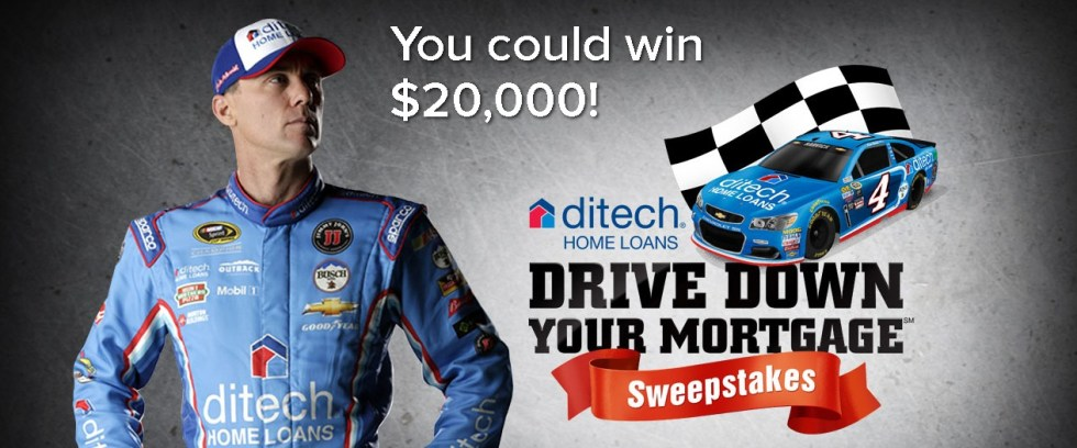 Enter the ditech Drive Down Your MortgageSM Sweepstakes Win $20,000