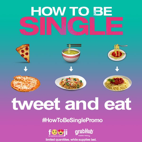 FREE Pizza, Pasta, Noodle at How to Be Single Twitter Page