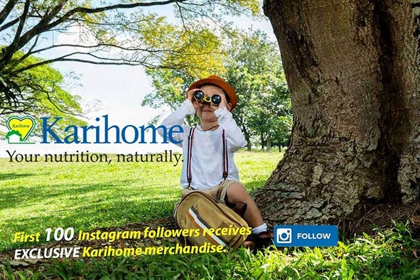 First 100 Instagram followers receive Exclusive Karihome Merchandise