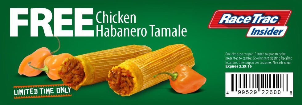 Free Chicken Habanero Tamale at RaceTrac Insider