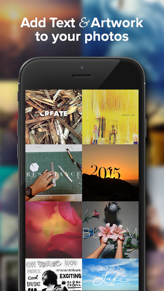 Free iOS App Over — Creative Typography, Graphic Design & Photo Editing