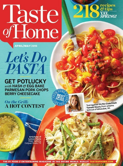 Free one-year subscription to Taste of Home Magazine