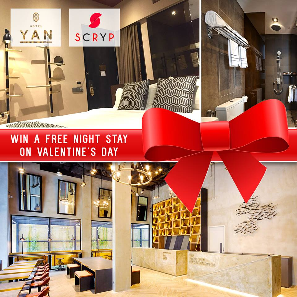 Get to win a FREE hotel night stay this Valentine's Day with your lover at Hotel YAN Singapore