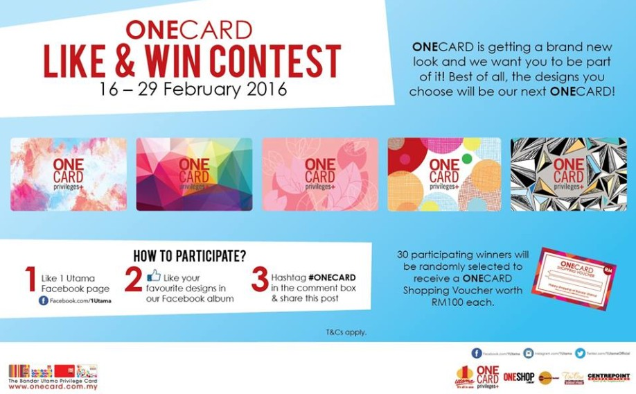 ONECARD Like & Win Contest! (16 - 29 Feb 2016)