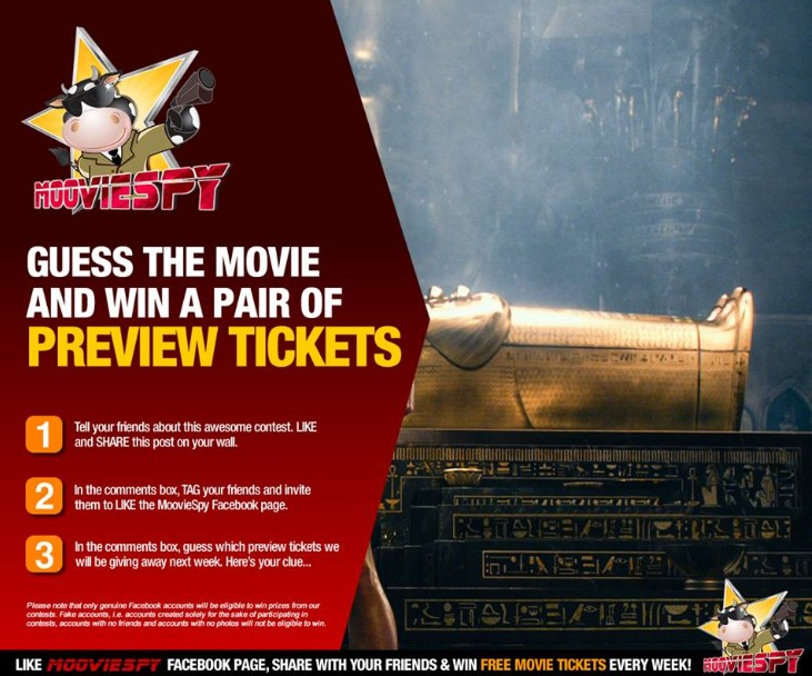 One lucky fan with the correct answer will win a pair of preview tickets at MoovieSpy