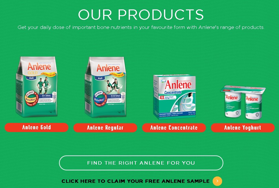 REGISTER YOUR DETAILS FOR AN ANLENE SAMPLE