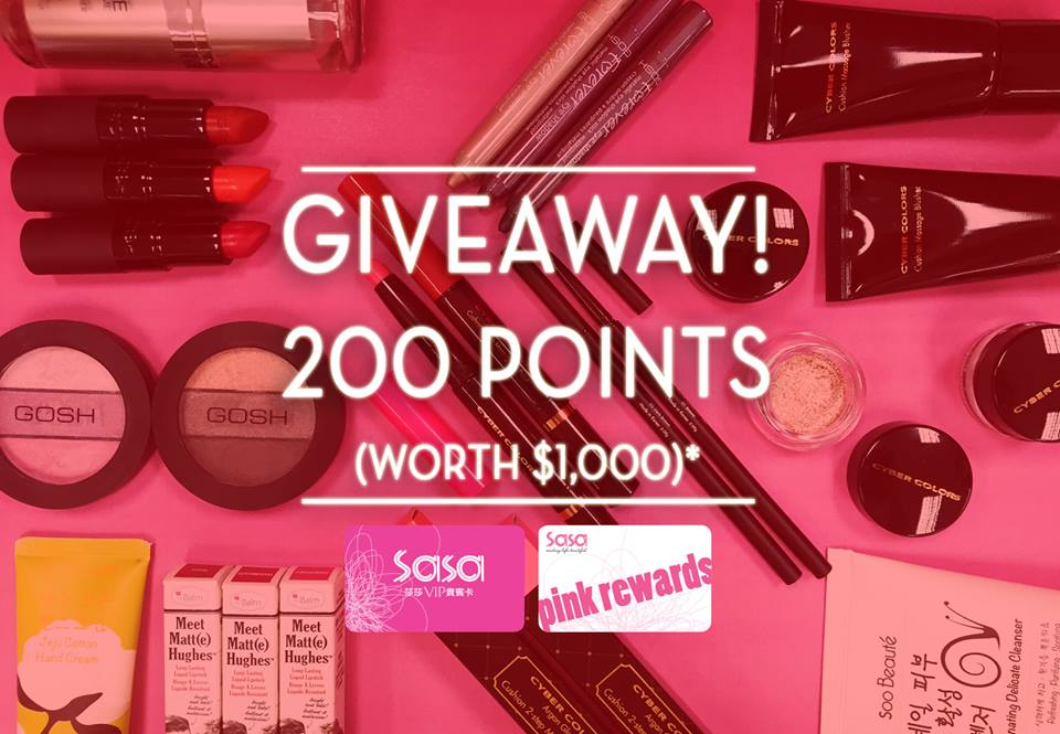 SASA Singapore Giveaway 200 points to P!NK members