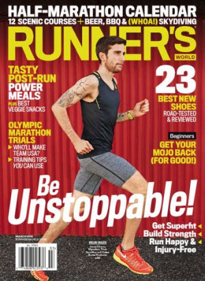 Sign up here for a complimentary one year subscription to Runner's World