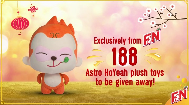 WIN Astro HoYeah plush toy at F&N Malaysia