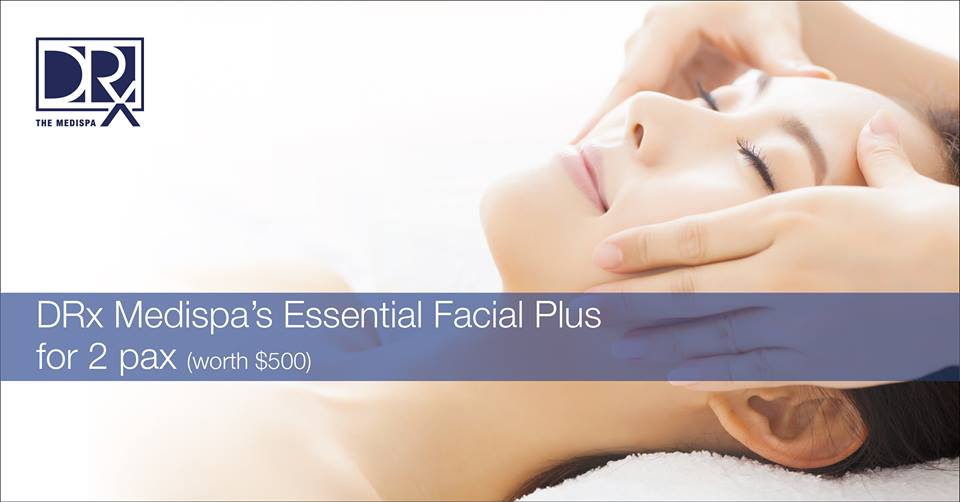 WIN! Essential Facial Plus for 2 at The DRx Medispa Singapore