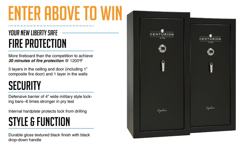 Win The Ultimate in Gun Safes The Liberty Centurion