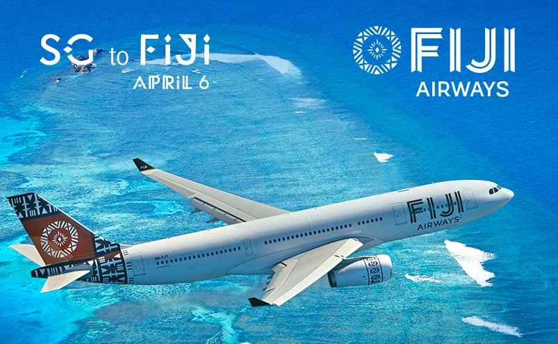 Be a part of the first ever flight from Singapore to Fiji on April 6, 2016