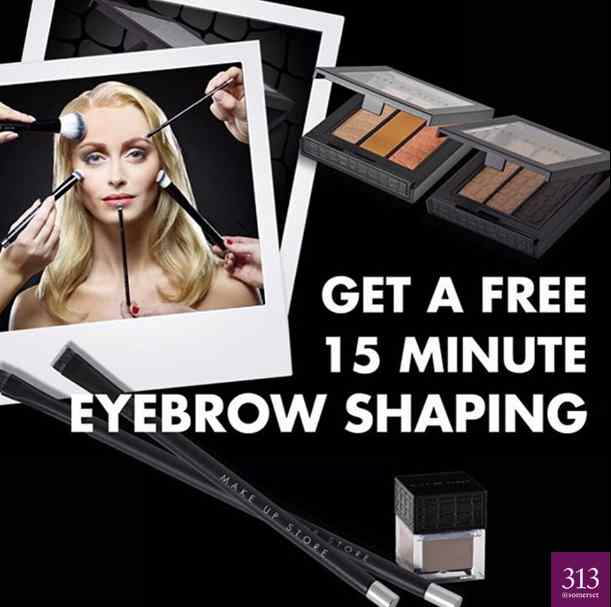 Free 15 minute eyebrow shaping at 313@somerset #Singapore