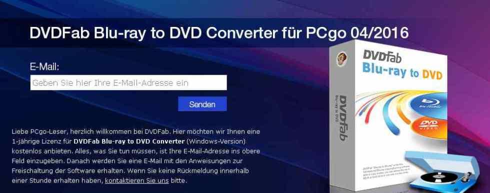 Free DVDFab Blu-ray to DVD Converter