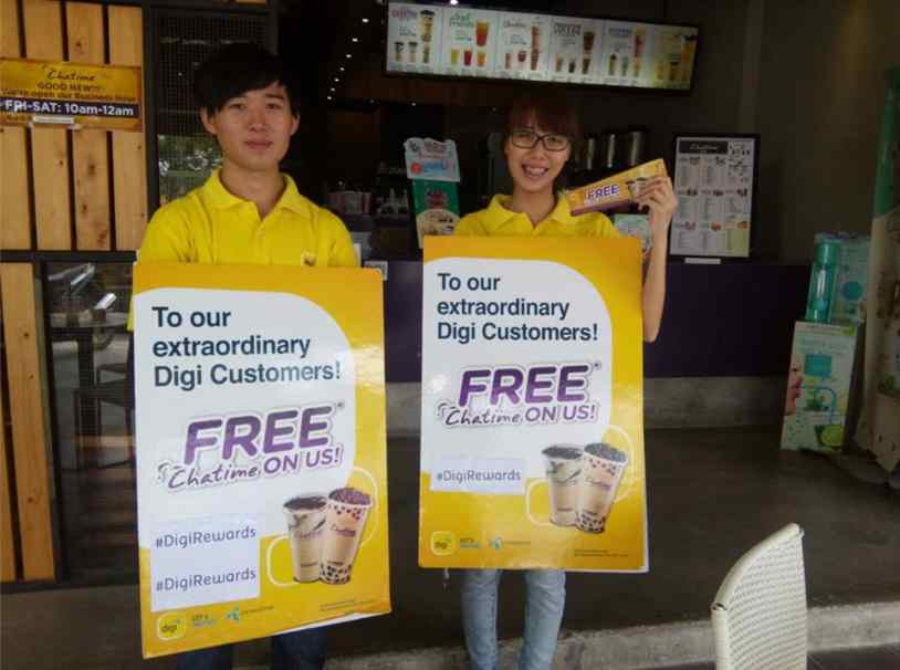 Free Drink for Digi subscriber at Chatime Malaysia