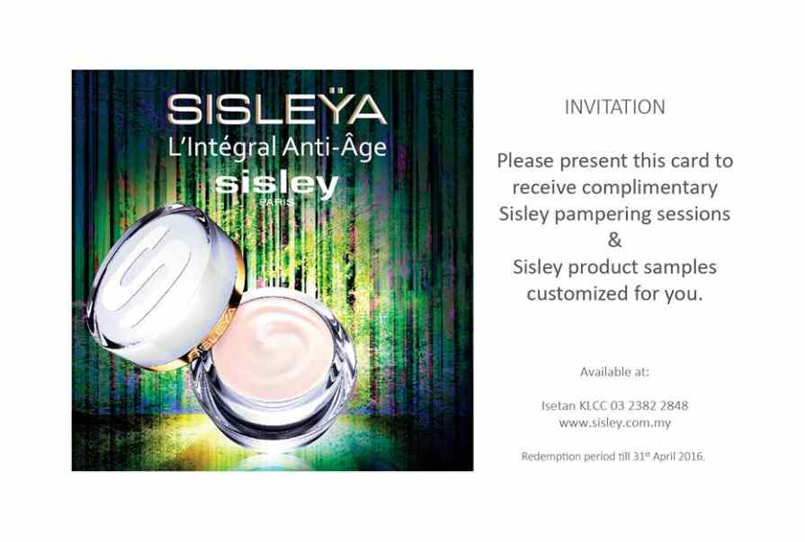 Receive complimentary Sisley pampering sessions and Sisley product samples customizes for you