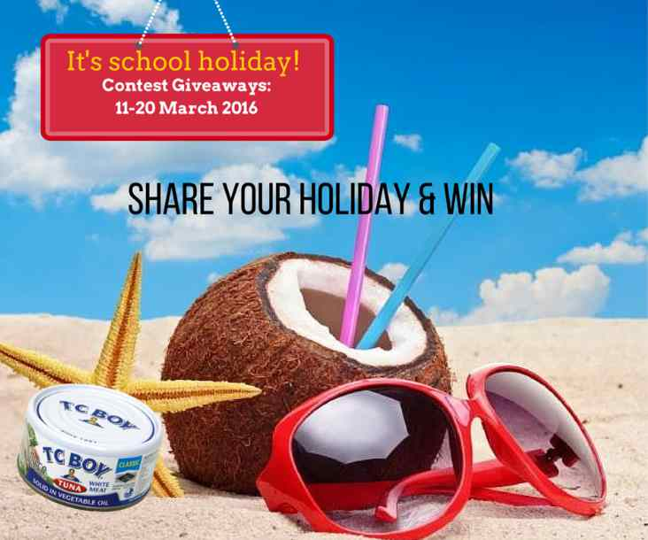 Share your holidays and win at TC Boy Malaysia