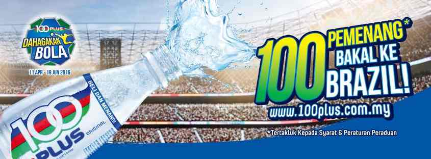 WIN yourself some special and fantastic weekly prizes at 100PLUS Malaysia