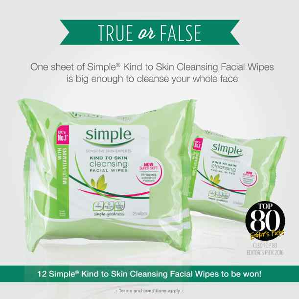 #Win Simple Kind to Skin Cleansing Facial Wipes at Simple Skincare Malaysia