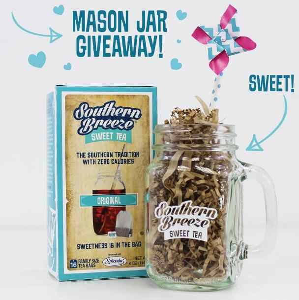 #Win a Box of Original Southern Breeze Sweet Tea and one of our Mason Jars
