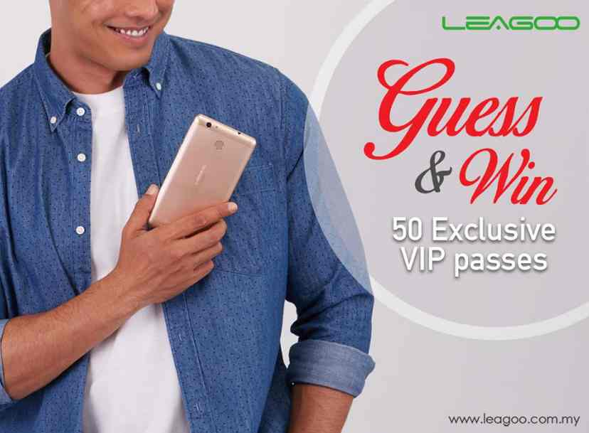 50 EXCLUSIVE PASSES for LEAGOO Malaysia's Launching Event up for GRAB at Leagoo Malaysia