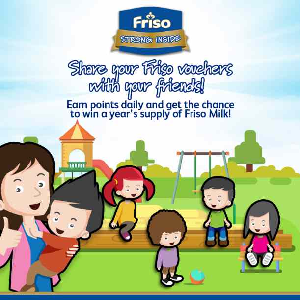 A chance to score a year's supply of Friso Milk