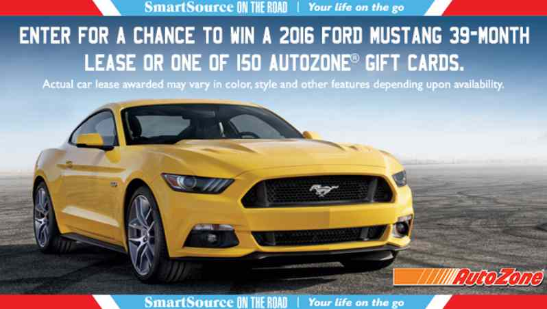 Enter a chance to win a 2016 Ford Mustang