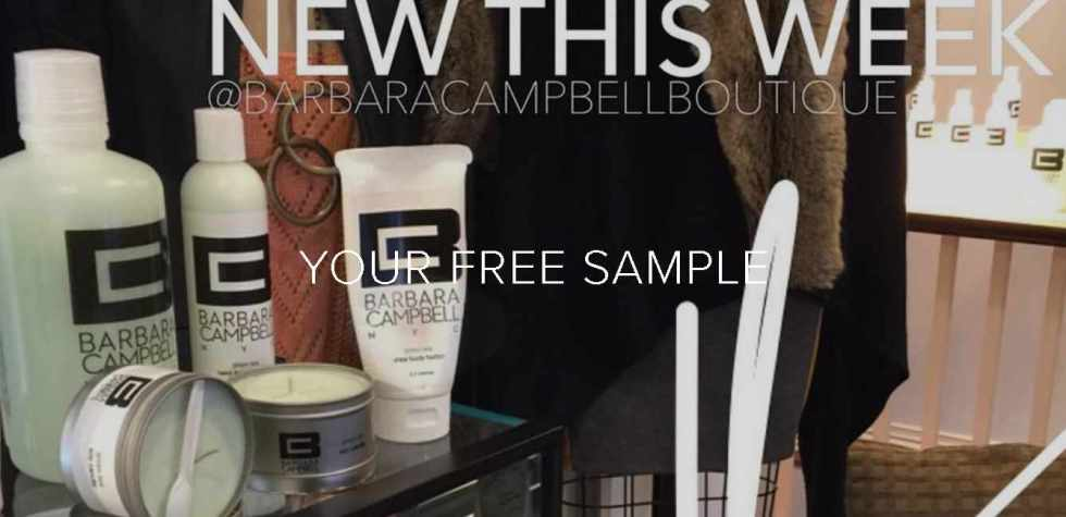 Get your free sample at Barbara Campbell NYC
