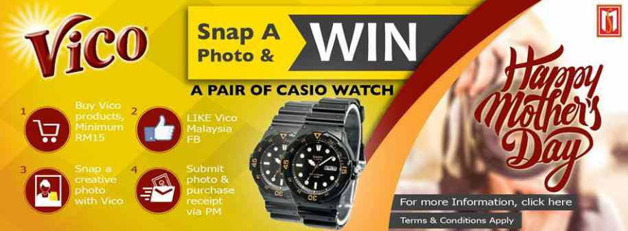 Grab a chance and win a pair of Casio watch on this Mother's Day!