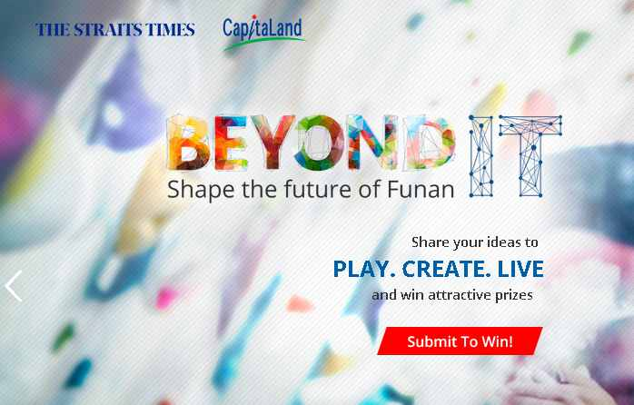 PLAY.CREATE.LIVE and win attractive prize at Funan IT Mall