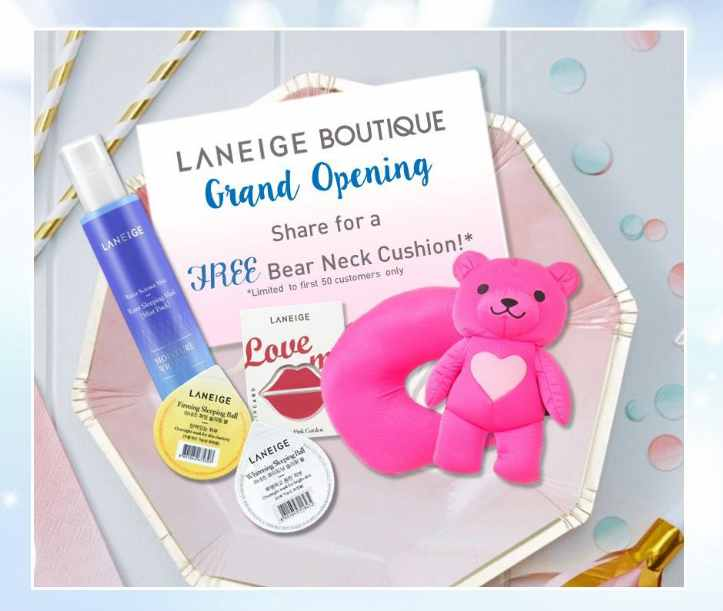 Receive a Bear Neck Cushion for free at LANEIGE #Malaysia