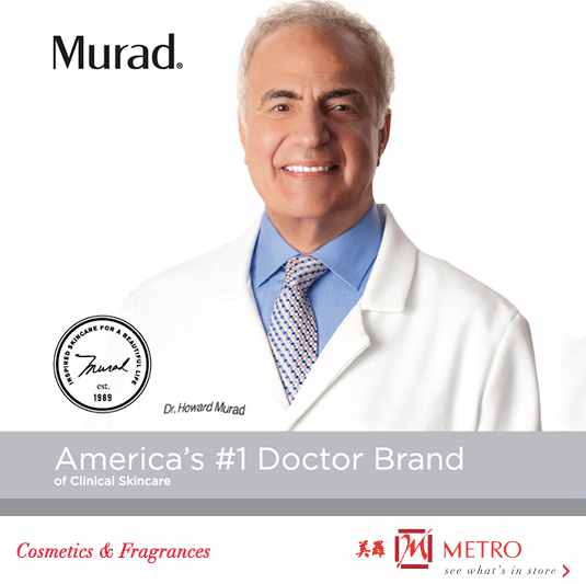 Receive a Complimentary Murad Customized 3-Step Regimen set at METRO (Singapore)