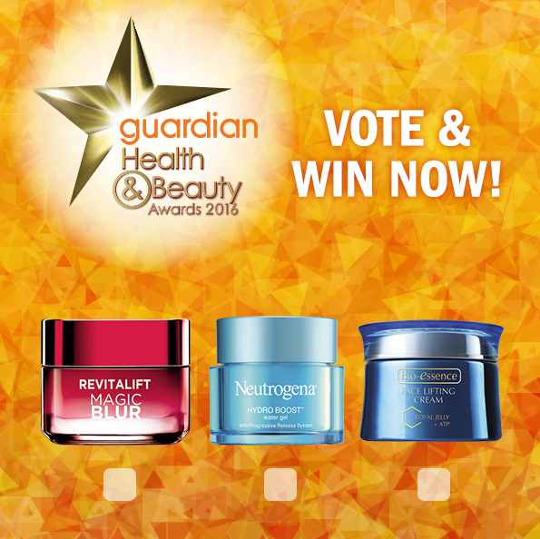Vote now and WIN a $50 product hamper at Guardian Health & Beauty