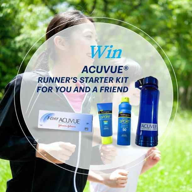 WIN a runner starter kit for you and your running buddy at Acuvue SG