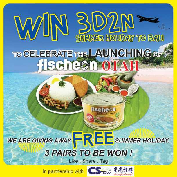 #Win a Bali Getaway trip worth $1,288 at Fischeon