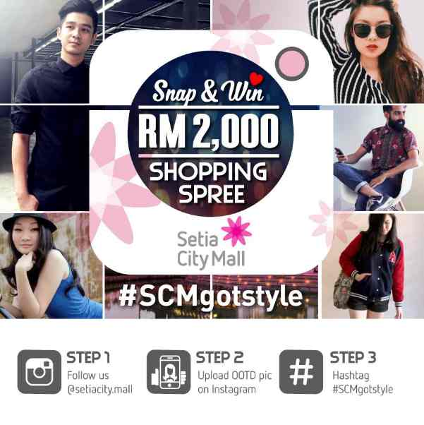#Win you a RM2,000 shopping spree at Setia City Mall #Malaysia