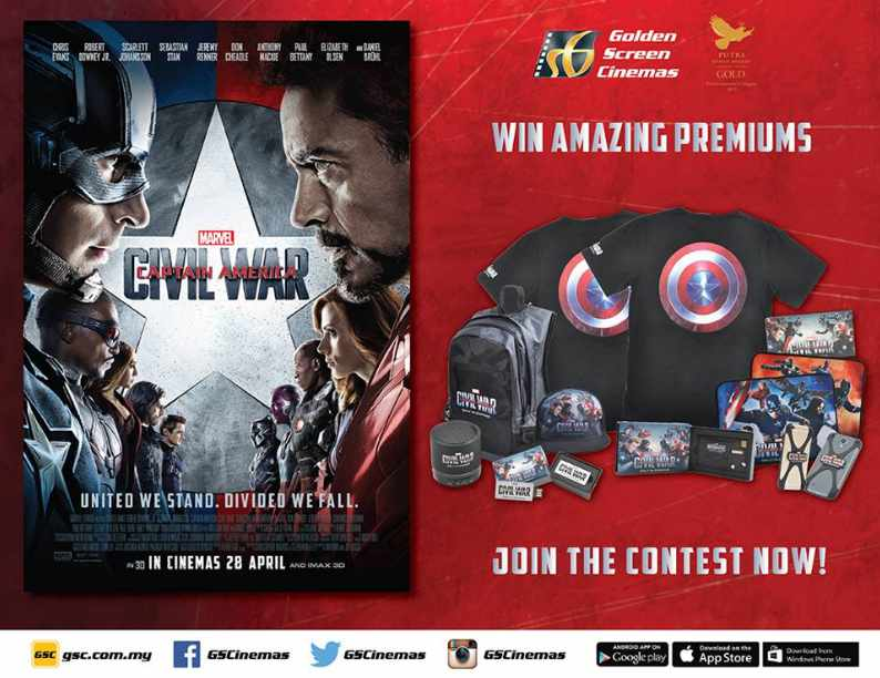 CAPTAIN AMERICA CIVIL WAR CONTEST