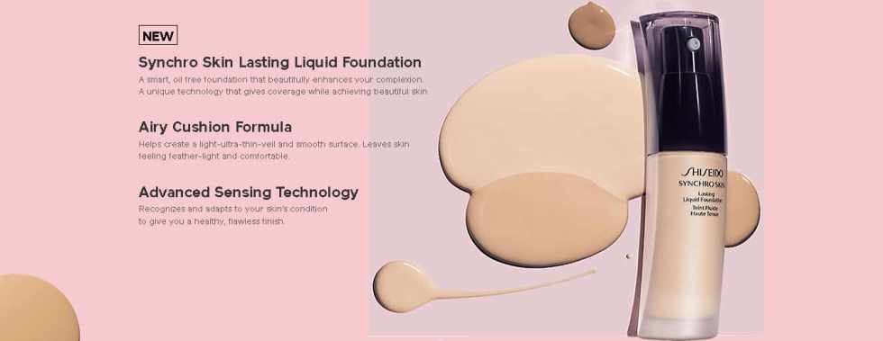 Free Shiseido Synchro Skin Lasting Liquid Foundation Sample