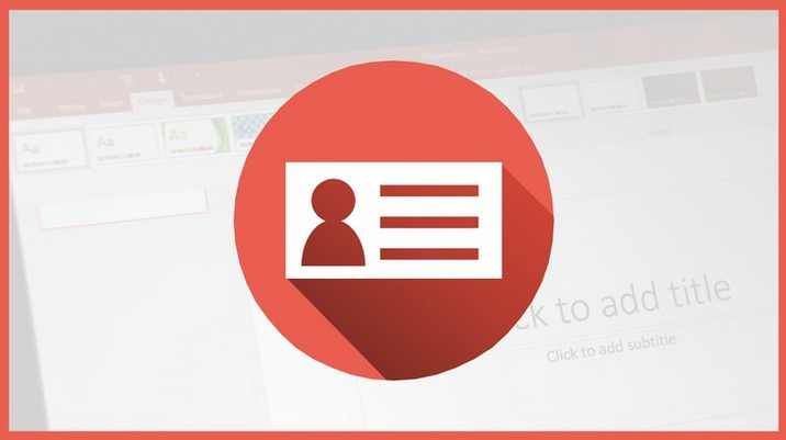 Free Udemy Course on How To Design Flat Business Cards In PowerPoint