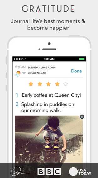 Free iOS Lifestyle App Gratitude Journal ~ the original! By Happy Tapper