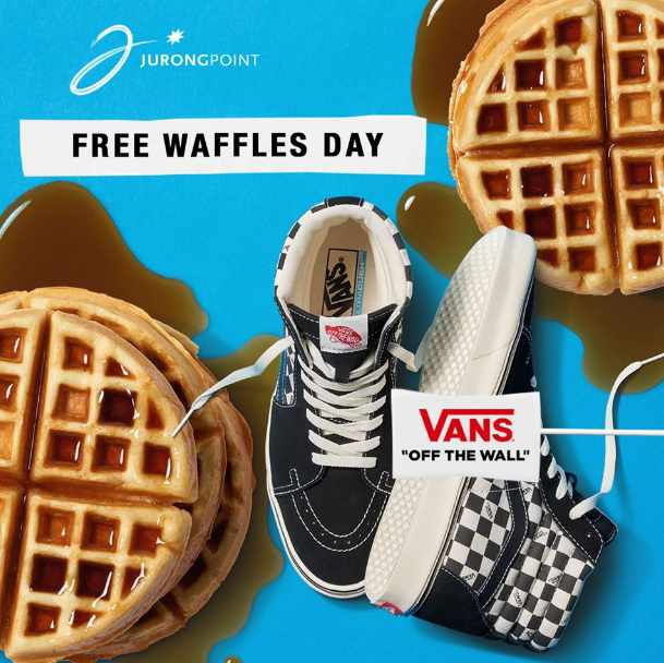 Free waffles at the new Vans Store located at Jurong Point Shopping Centre