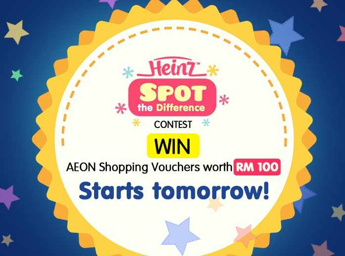 Heinz Spot the Difference Win AEON Shopping Vouchers
